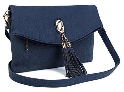 Shoulder Big Womens Pink Pockets Leather Bag Clutch Handbag 3 Soft Design Flap Vegan Over Shop Evening Pale Multiple Trendy OTXqrn0OEw