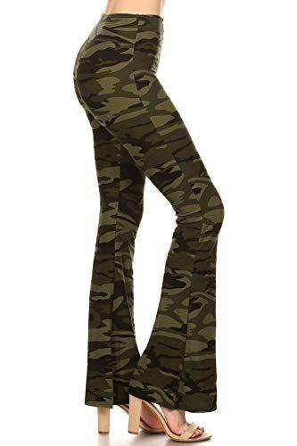 Leggings Depot PZA-N021-S Camouflage Army Palazzo Print Pants, Small