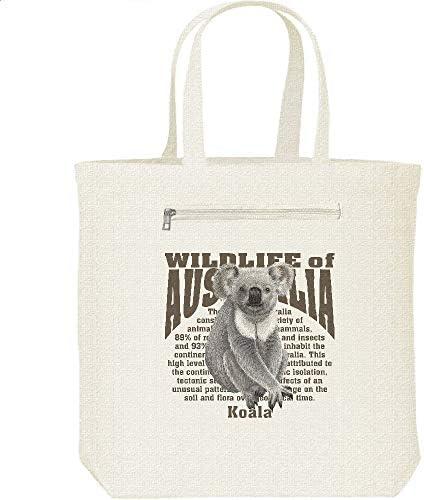 エムワイディエス(MYDS) コアラ<オーストラリアの動物/キャンバス トートバッグ・ファスナー ポケット付