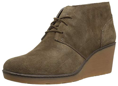 CLARKS Women's Hazen Charm Fashion Boot Olive Suede