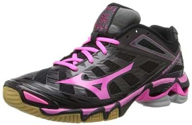 Mizuno Women's Wave Lightning RX3 Volley Ball Shoe,Black/Pink,6.5 M US