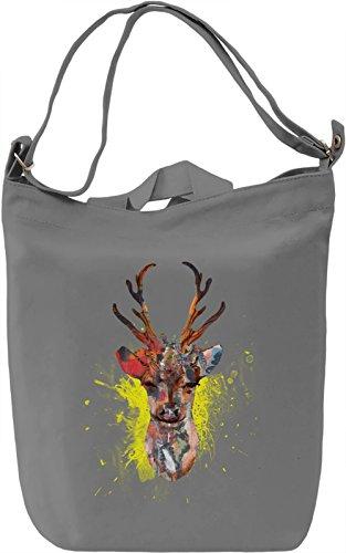 Stag Power Borsa Giornaliera Canvas Canvas Day Bag| 100% Premium Cotton Canvas| DTG Printing|