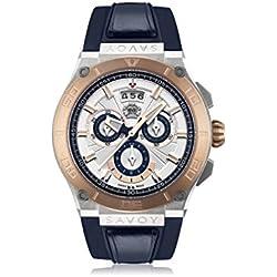Savoy Metropolitan - IP Rose Gold & Stainless Steel - Blue Strap Men's Watch