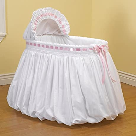 Baby Doll Bedding Pretty Ribbon Bassinet Set Pink