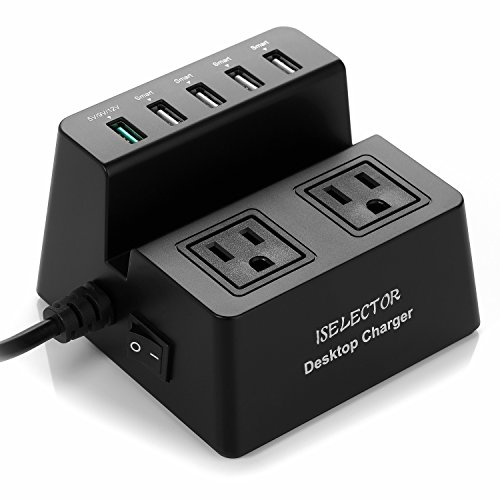 Multiple USB Charger with Fast Charging ,40W 5-Port Charging