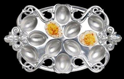 Arthur Court Designs Fleur de Lis Deviled Egg Holder by Arthur Court