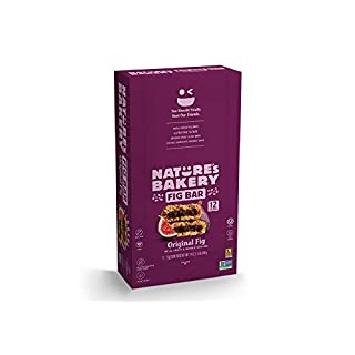 Nature's Bakery Whole Wheat Fig Bars, Original Fig, Real Fruit, Vegan, Non-GMO, Snack bar, 1 box with 12 twin packs (12 twin packs)