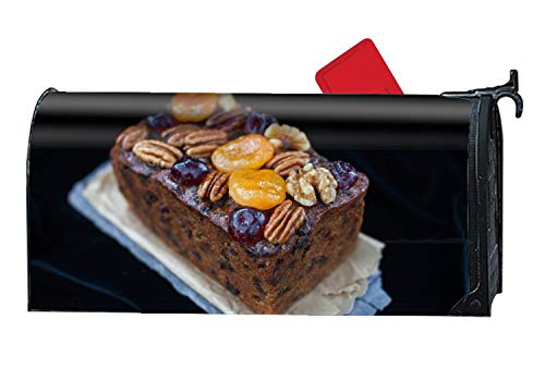 Loaf Cakes Christmas Cookies Caramelized Fruit Dried Apricots Walnuts Magnetic Mailbox Cover - Fairy Garden Accessories