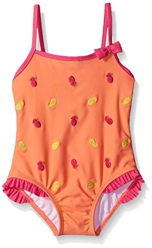 - Tommy Bahama Little Girls' One Piece Pineapple Swimsuit, Orange, 6