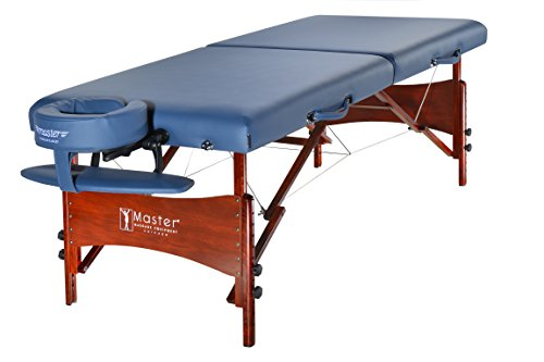 Master Massage 30″ Newport Portable Cable Release Massage Table Package, Royal Blue Shiatsu