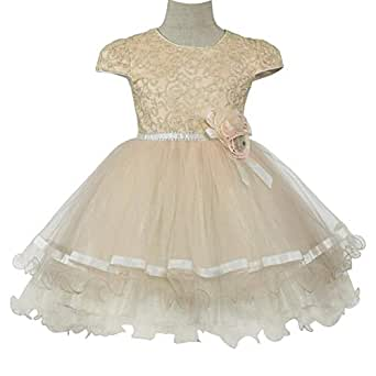 Pamina Gown For Girls - 8-9 Years, Peach