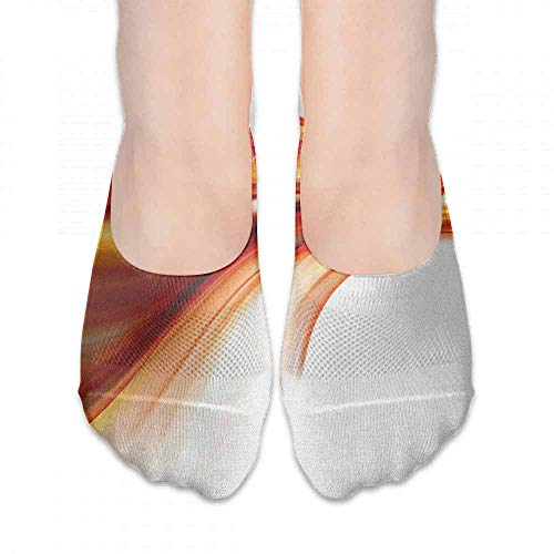 Sock for Male Gifts Abstract,Modern Contemporary Abstract Smooth Lines Blurred Smock Art Flowing Rays Print, Orange Red,socks for flats