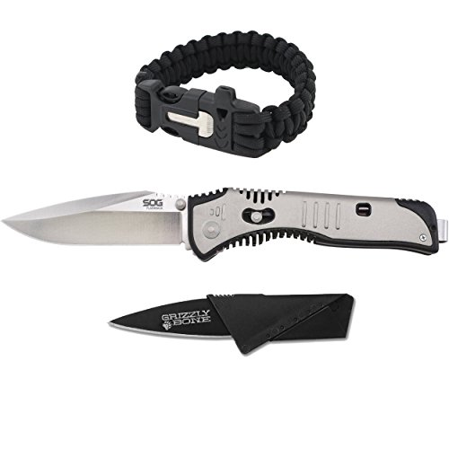 New-Combo-Pack-SOG-Flashback-Black-TiNi-35in-Blade-Self-Defense-Weapon-Ultimate-Survival-Tool-for-Zombie-Apocalypse-Survival-Kit-w-Free-550-Paracord-Bracelet-Credit-Card-Knife-Survival-Life