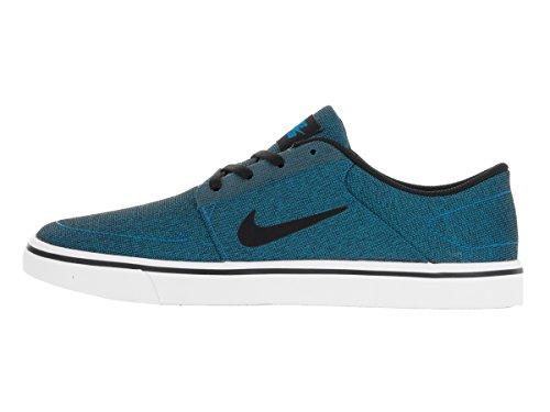 Nike Herren SB Portmore Cnvs Skateschuh Foto Blau / Schwarz Weiß