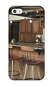New WmcfcOJ27116OfFmZ Cathedral Kitchen Bar With Wood Cabinets And Rustic Support Beams Tpu Cover Case For Iphone 5/5s