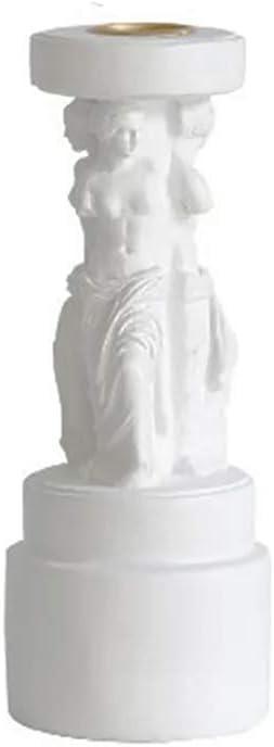 Rich Boxer Antique Roman Column Candlestick, Roman Column Candle Holder Greek-Style Venus Athena Goddess Roman Column Aromatherapy Candlestick, Wedding Candle Holder Creative Decoration (Venus)