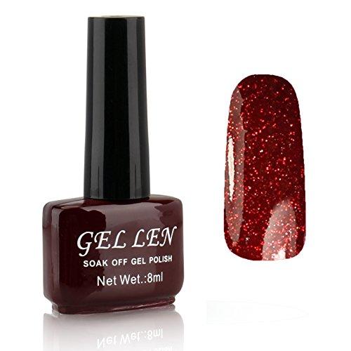 Gellen LED Gel Polish Color Gels 1pc 8ml Glitter Series Shin