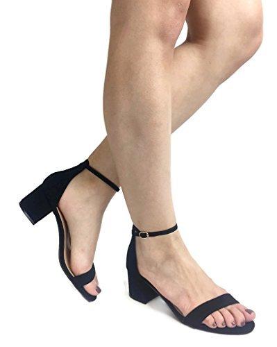 8cced657c4c Amazon.com | Top Moda Darcie-1 Black 6.5 B(M) US | Sandals