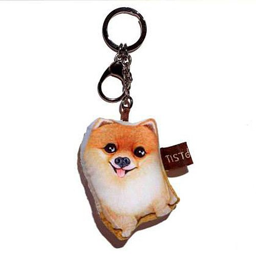 Sansukjai Key ring Key chain Pomeranian Fabric Dog lover High 10 - Tiffany Locator Store Usa