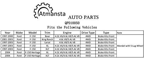 2000-2003 Ford F-150 5LUG 4WD Front Rear DRILL Brake Rotors /& Ceramic Pads