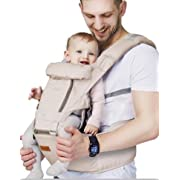 Ergonomic Baby Carrier with Hip Seat for Girls/Kids,Baby Backpack Carrier Toddler 6 Comfortable & Safe Positions, 48  Maximum Adjustable Waistband, Perfect for Alone Nursing and Hiking (Grey))