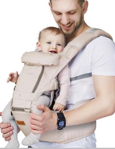 "Ergonomic Baby Carrier with Hip Seat for Girls/Kids,Baby Backpack Carrier Toddler 6 Comfortable & Safe Positions, 48"" Maximum Adjustable Waistband, Perfect for Alone Nursing and Hiking (Grey))"