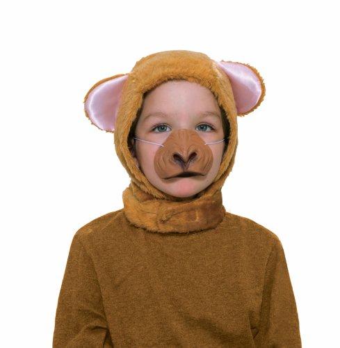 [Forum Novelties Child Size Animal Costume Set, Monkey Hood and Nose Mask] (Child Monkey Costumes)