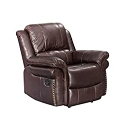 Farmhouse Accent Chairs Sunset Trading Glorious Recliner, Regal Brown farmhouse accent chairs
