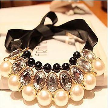 Mujer Perla Collares Declaración Collar con Perlas Collares Babero Damas Nupcial Festival/Celebración Fornido Perla Joyas para Boda Ocasión Especial