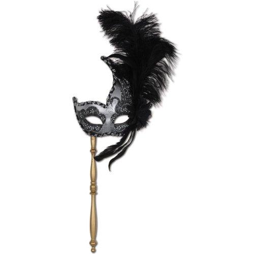 Beistle 54204 Feathered Mask Stick