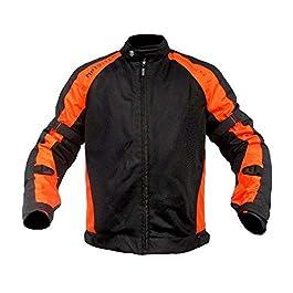 Mototech Scrambler Air Motorcycle Riding Jacket – Combo Colors (Orange, Black + Orange, 2XL)