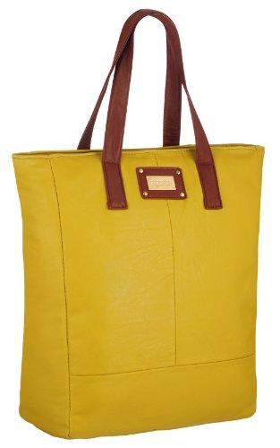 EyeCatchBags - Maribel Damen Kunstleder-Tasche Handtasche Schultertasche Mustard
