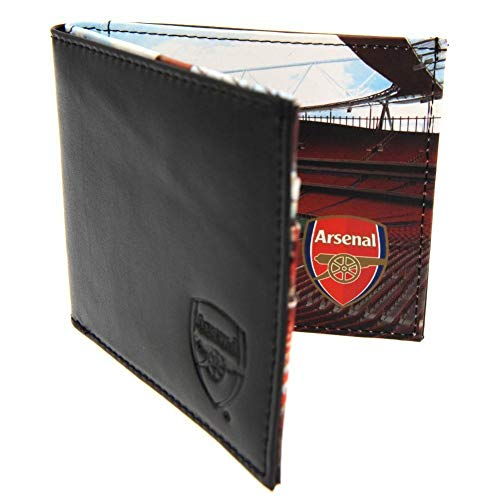 Arsenal FC Leather Panoramic Wallet (One Size) (Black)