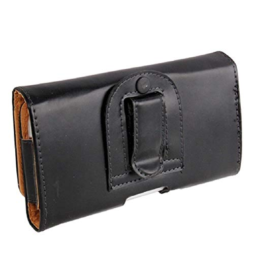 DFV mobile - Funda Cinturon Clip Horizontal Piel Suave Sintetica Premium para => BQ AQUARIS U2 > Negra