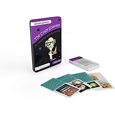 The Purple Cow The Crazy Scientist Tricks Card Set, Kitchen Science, Educational Games for Young Kids 6 Years and Older, Instructions Inside – Amazing STEM Learning: Toys & Games