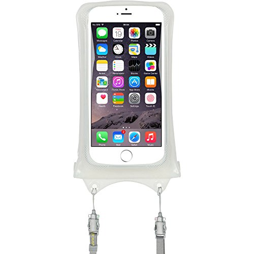 AquaVault Waterproof Phone Case. Dual Layer, Floating Air Bag Design and Neck Strap, Fits All Phones Up to 5.7 Inches. - White