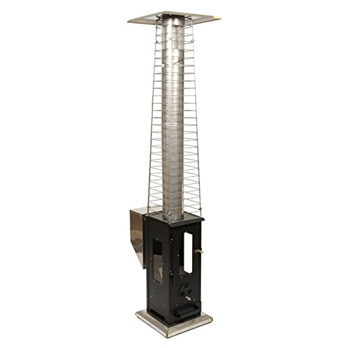 Wood Pellet Outdoor Patio Heater – Propane Alternative, Portable, No Smoke, 80,000 BTU's,  ...