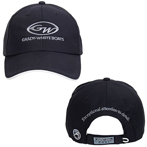 Grady White Boats Navy/White Unstructured Ahead Textured Nylon Hat Cap (Hats Ahead)