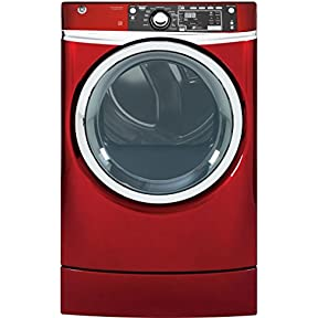 GE GFD49ERPKRR 28' Electric Dryer with 8.3 cu. ft. Capacity, in Ruby Red