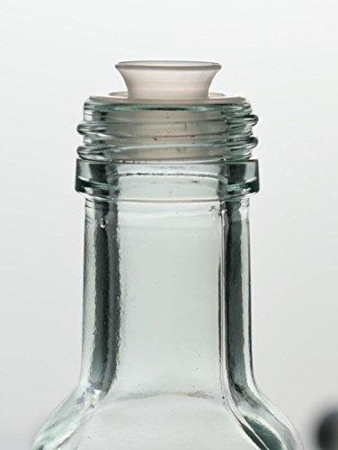 guoveo - 12 botellas de 500 ml con tapón de rosca dorado, botellas de vidrio vacías: Amazon.es: Hogar