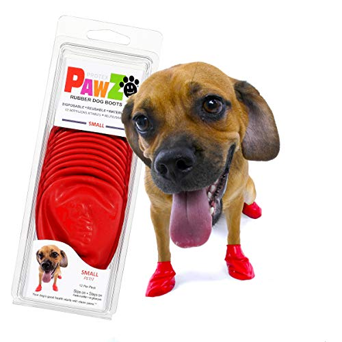 Pawz Dog Boots | Dog Paw Protection with Dog Rubber Booties | Dog Booties for Winter, Rain and Pavement Heat | Waterproof Dog Shoes for Clean Paws | Paw Friction for Dogs | Dog Shoes