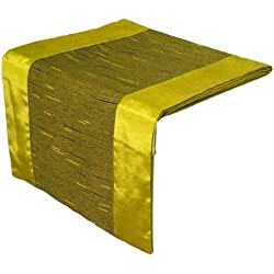 Artiwa SALE 70% OFF Lime Green Rectangle Silk Decorative Table Runner/Bed Runner 14x120 inch