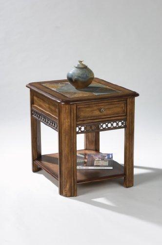 (Magnussen Madison Wood Rectangular Drawer End Table)