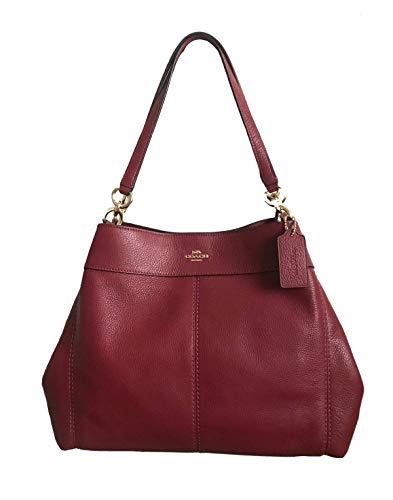 Coach Lexy Pebble Leather Shoulder Bag (Cherry)