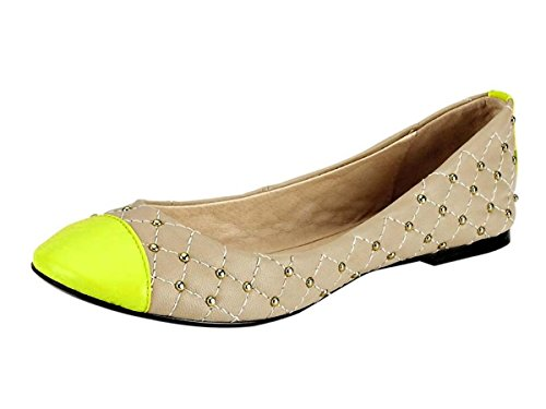 beige Best Heine Connections Femme Multicolore multicolore Ballerina neongelb pour 0SwqFS