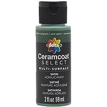 Plaid Delta 04018 Ceramcoat Select Multi-Surface Paint, 2 oz, Evergreen