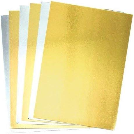20 St/ück Baker Ross Metallic-A4-Pappe in Gold und Silber