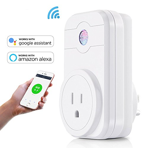 Wifi Smart Plug Mini Smart Outlet Socket Remote Control Plug In Swithes Work with Google Home & Amazon Alexa, No Hub Required