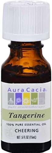 Aura Cacia Essential Oil, Tangerine, 0.5 Fluid Ounce
