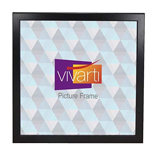 Vivarti Cadre Photo Fin Satin Noir, 50 x 50 cm,